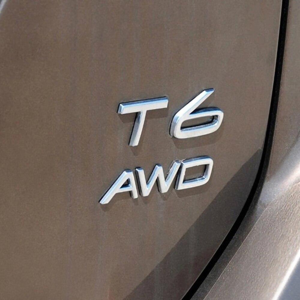 3D Metal Sticker for Volvo XC60 XC90 XC70 V60 V40 S60 S70 S80 S90 AWD T5 T6 Emblem Sticker Car Side Fender Rear Trunk Sticker in Trunk trim from Automobiles Motorcycles