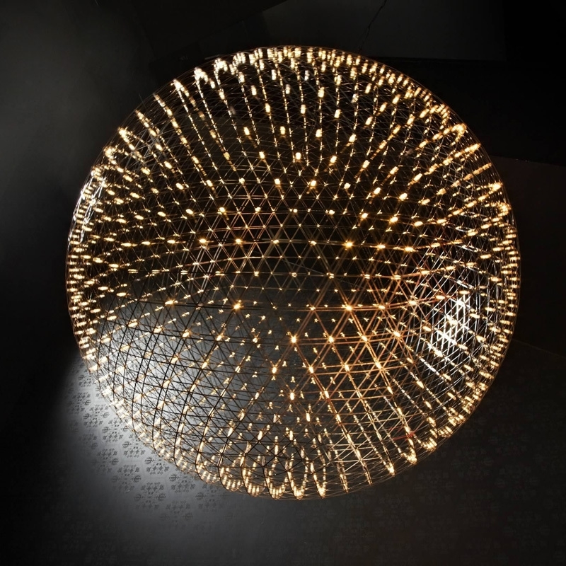 Image 4 - GZMJ Brief Spark Globe LED Pendant Lights Art Deco Firework Ball Stainless Steel Hanging Lamp Loft Light Fixtures for Home Decor-in Pendant Lights from Lights & Lighting