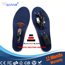 Electrically Heated Insoles with Remote Control Battery Powe