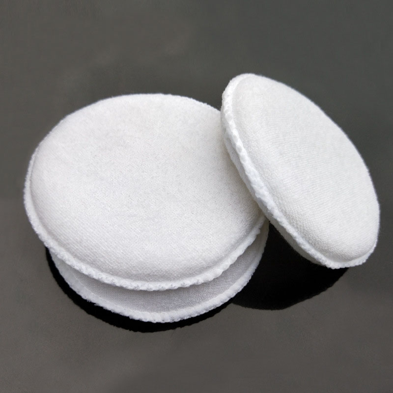 Image 4 - 3PCS soft microfiber polishing sponge car wash care car waxing cotton white applicator pad car detail-in Sponges, Cloths & Brushes from Automobiles & Motorcycles