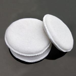 Image 4 - Esponja de pulido de microfibra suave para coche, de fácil lavado, encerado de algodón, almohadilla aplicadora blanca, detalle de coche, 3 uds.