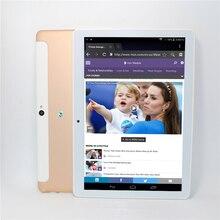 Original de 10.1 pulgadas 3G Llamada de Teléfono Del Androide 6.0 del MTK 6582 Quad Core Android IPS de la Tableta de WiFi 1G + 16G android tablet USB DEL Regalo LED/Stand