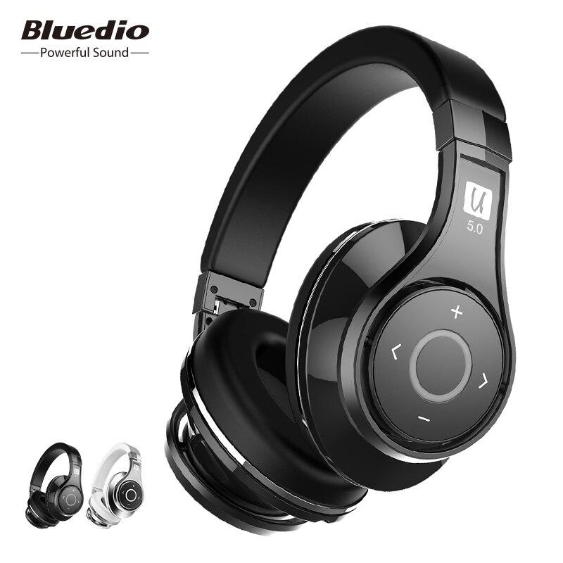 Bluedio U (UFO) 2 Haut de Gamme casque bluetooth Breveté 8 Pilotes HiFi Sans Fil écouteurs avec microphone pour téléphone contrôle vocal
