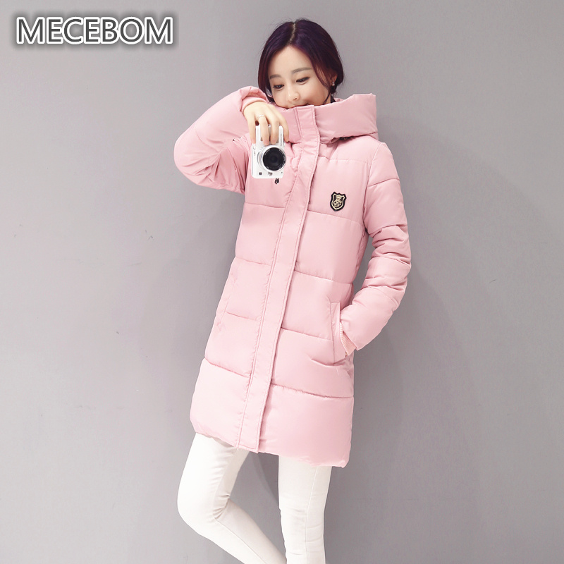 MECEBOM New Long Parkas Women Winter Coat Thick Cotton Winter Jacket Womens Outerwear Parkas for Women