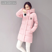 MECEBOM New Long Parkas Women Winter Coat Thick Cotton Winter Jacket Womens Outerwear Parkas for Women Winter Outwear 8665c