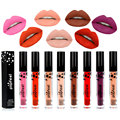 Popfeel Waterproof Long-lasting Lip Gloss Pigment Dark Purple Nude Velvet Matte Liquid Lipstick kit Makeup