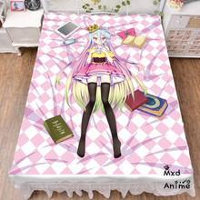 цены на Japanese Anime No Game No Life Shiro Bed sheet Throw Blanket Bedding Coverlet Cosplay Gifts Flat Sheet cd050  в интернет-магазинах