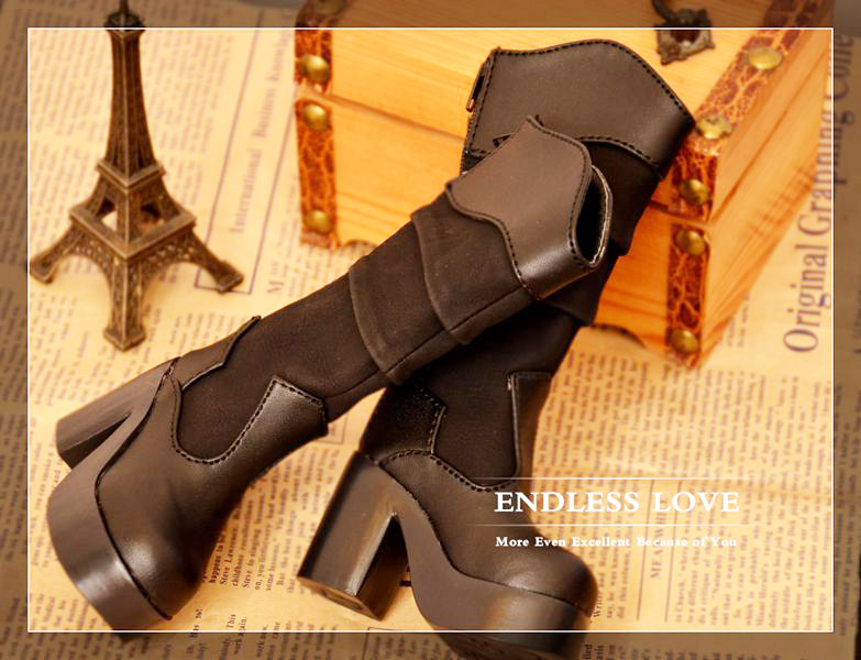 Classic High Heal Girl Boots for BJD Doll 1/4 MSD 1/3 SD10,SD13 Super Dollfie Luts AS Doll Shoes SW8
