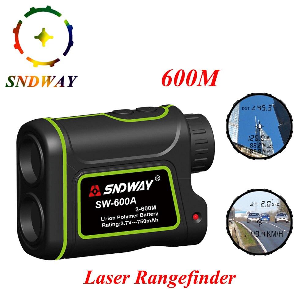 SNDWAY Telescope 600M Laser Rangefinder Laser Distance Meter 7X Monocular Golf hunting Range Finder tape Measure