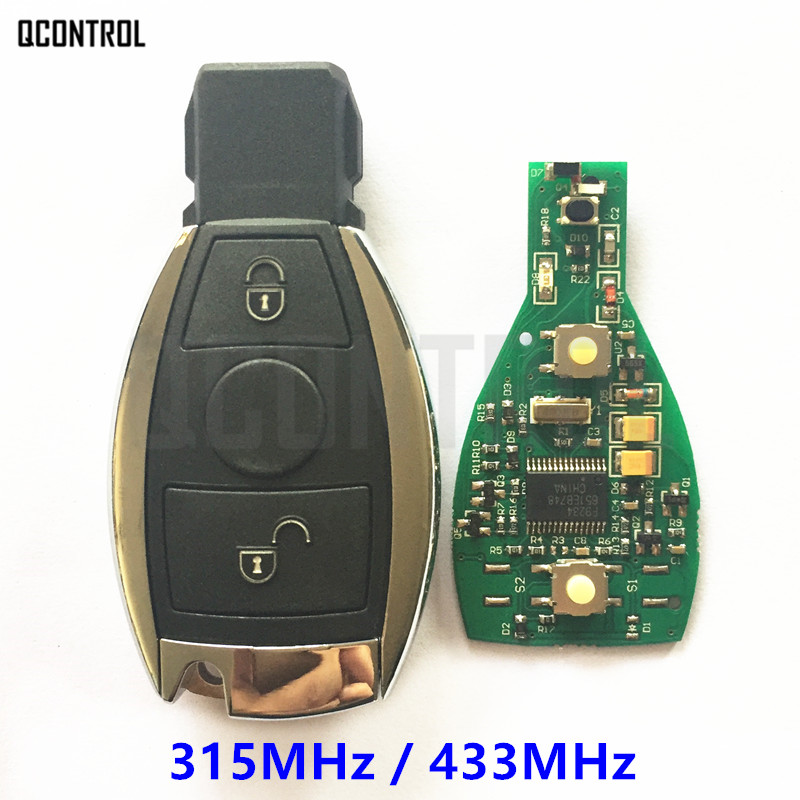QCONTROL Car Remote Smart Key suit for Mercedes Benz 2 Buttons Can Replace Original NEC and BGA type (Year 2000 and after )