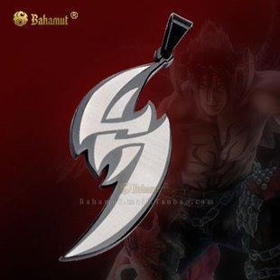 KOF The King of Fighters Tekken Jin Kazama Necklace Pendan Free With Chain - Titanium Steel - Devil Version