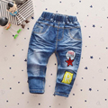 New arrival boy casual jeans children's clothing 1-4 years female kids denim pants spring baby trousers with patchwork stars