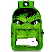 17 Inch The Avengers Batman Hulk Backpacks Children School Bags Backpack for Teenager Girls Book Bag Men Women Knapsack Daypack