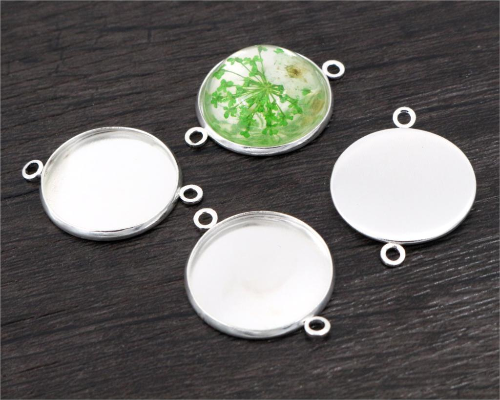 20pcs 20mm Inner Size Stainless Iron Material Bright Silver Plated Simple Style Cabochon Base Cameo Setting Pendant Tray (S2-23) mibrow 10pcs lot stainless steel 8 10 12 14 16 18 20mm blank french lever earring tray cabochon setting cameo base jewelry