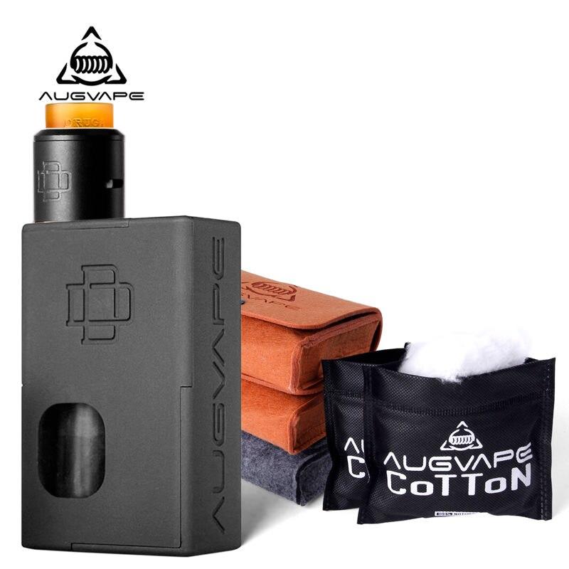 Augvape Druga Squonker Box Mod Elektronische Zigarette Kit mit Druga 22mm RDA Zerstäuber Angetrieben durch 18650 Batterie 8 ml saft Flasche