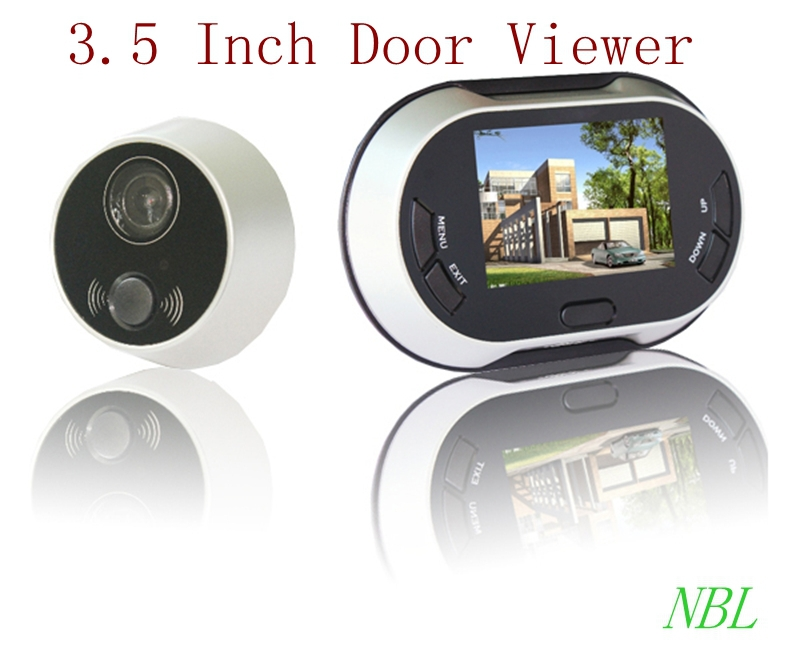 3.5 Inch TFT LCD Digital Peephole DoorViewer Wide Angle Door Camera Monitor No Disturb Function Home Security Doorbell Alarm