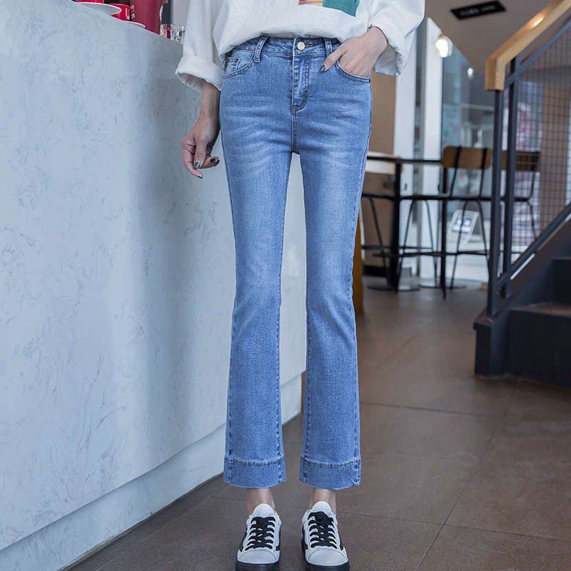 DN 2018   jeans   woman casual stretch denim solid color stitching Denim   Jeans   Female Harem Pants Trousers boyfriend   jeans   5A131-157