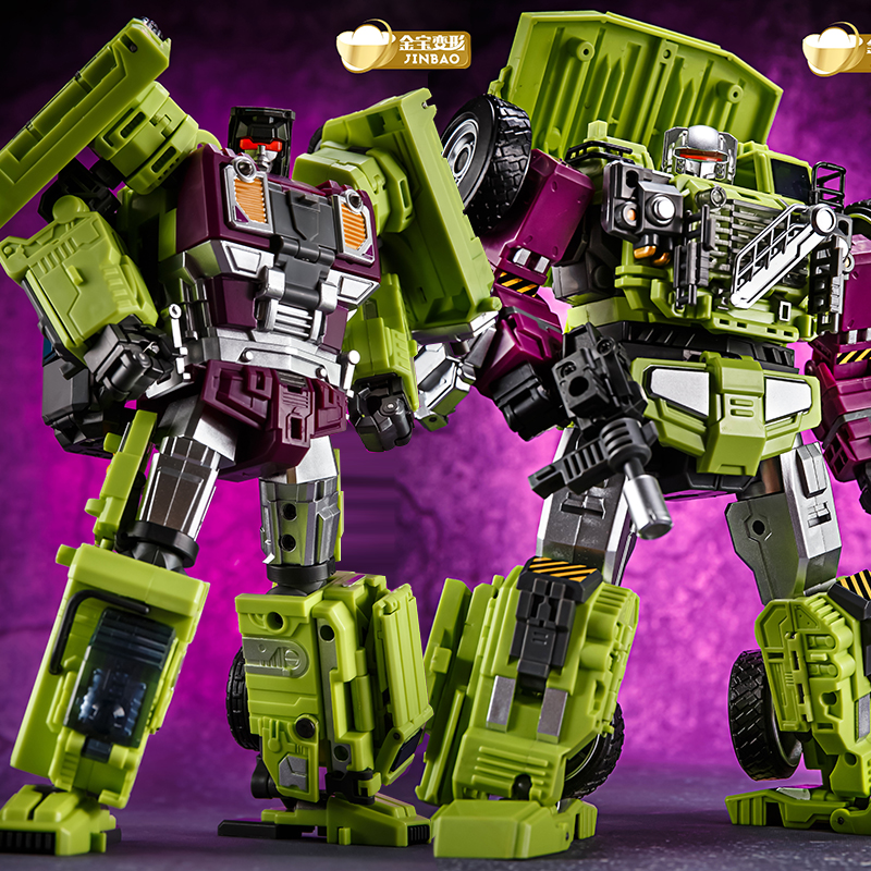 JinBao Devastator Transformation GT  6 IN1 Bonecrusher Scrapper  Mixmaster Hook KO Action Figure Robot Toys with retail box-in Action & Toy Figures from Toys & Hobbies    1