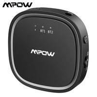 Mpow Bluetooth 5.0 Receiver Transmitter APTX/APTX LL/APTX HD Wireless Adapter With 3.5mm AUX Cable For TV/ Home/ Car/ Headphone