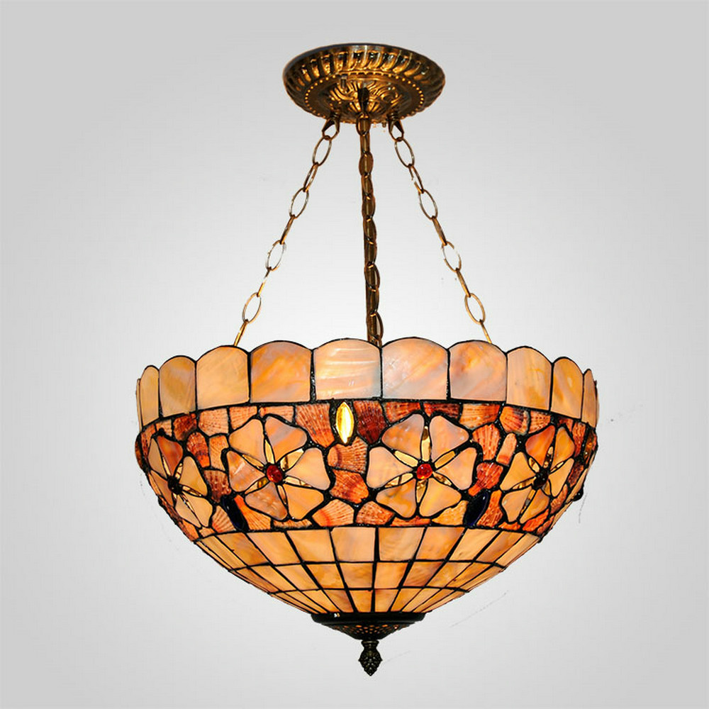 Mamei free shipping 16 inch 3 lights tiffany pendant light for mamei free shipping 16 inch 3 lights tiffany pendant light for living room with sea shell lamp shade 110 240v is available in pendant lights from lights mozeypictures Gallery