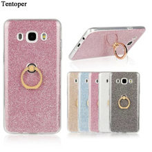 Flash Glitter Cover For Samsung Galaxy J3 J5 J7 2015 2016 Case Soft TPU Silicone For Samsung J310 J510 J710 2016 Back Ring Coque
