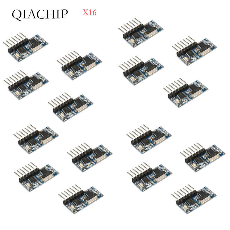 16 Pcs 433Mhz Wireless Remote Control Switch 4CH RF Relay EV1527 Encoding Learning Module For Light Relay Receiver Diy Kit