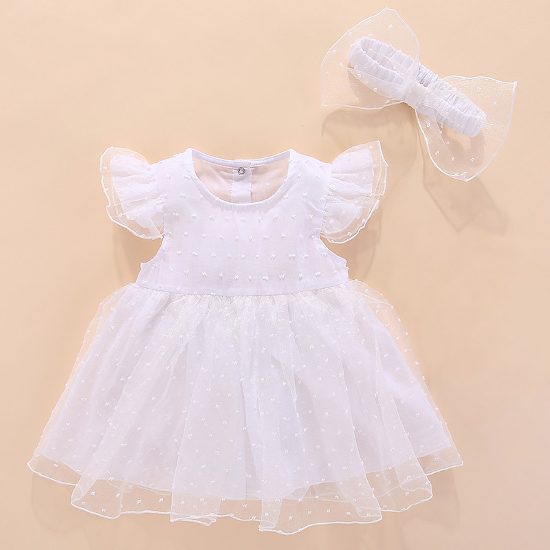 summer newborn baby dress princess style red white cotton lace baby dress wedding baptism baby clothes for baby birthday party