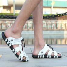 Breathable Sandals Summer Shoes Men Casual Shoes Outdoor Beach Slippers Boys Anti-Skid Clogs Masculino Gladiator Solid Mules