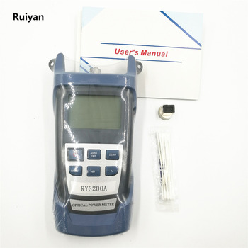 Optical Power Meter Fiber Optic RY3200A Handle Optical Power Meter -70~+10 dBm 6 wavelength joinwit jw3208a portable 70 3dbm fiber optic power meter used in telecommunications free shipping