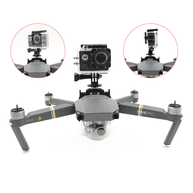For DJI Mavic Pro Drone Gimbal Camera Mount Multifunction Fixed Bracket LED Light Buckle Holder For DJI Mavic Pro Accessories 3