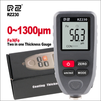RZ Thickness Gauges Paint Coating Thickness Gauge Car Digital Thickness Gauges Tester RZ230 With Backlight Film Thickness Gauge