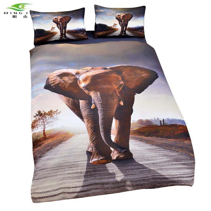 NY Sydafrika Elephant Home Textiles Mandala Sängkläder Reaktiv - Hemtextil