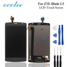 Ocolor Para Lâmina ZTE L5 Display LCD e Tela de Toque Boa Montagem Digitador Da Tela de Substituição Com Ferramentas Para O ZTE Lâmina móvel
