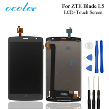 ocolor For ZTE Blade L5 LCD Display and Touch Screen Good Screen Digitizer Assembly Replacement With Tools For ZTE Blade Mobile