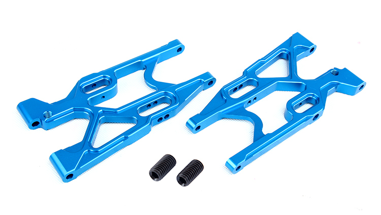 New CNC rear lower suspension set for LT 5T Rovan CNC metal rear suspension arm set fit hpi baja losi 5ive-T part losi 5ive t hd billet rear hub carriers
