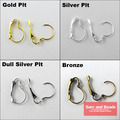 Free Shipping 30Pcs/pack French Earring Hooks Lever Back Splitring Earring Gold Silver Plated 13x19mm For Jewelry Making