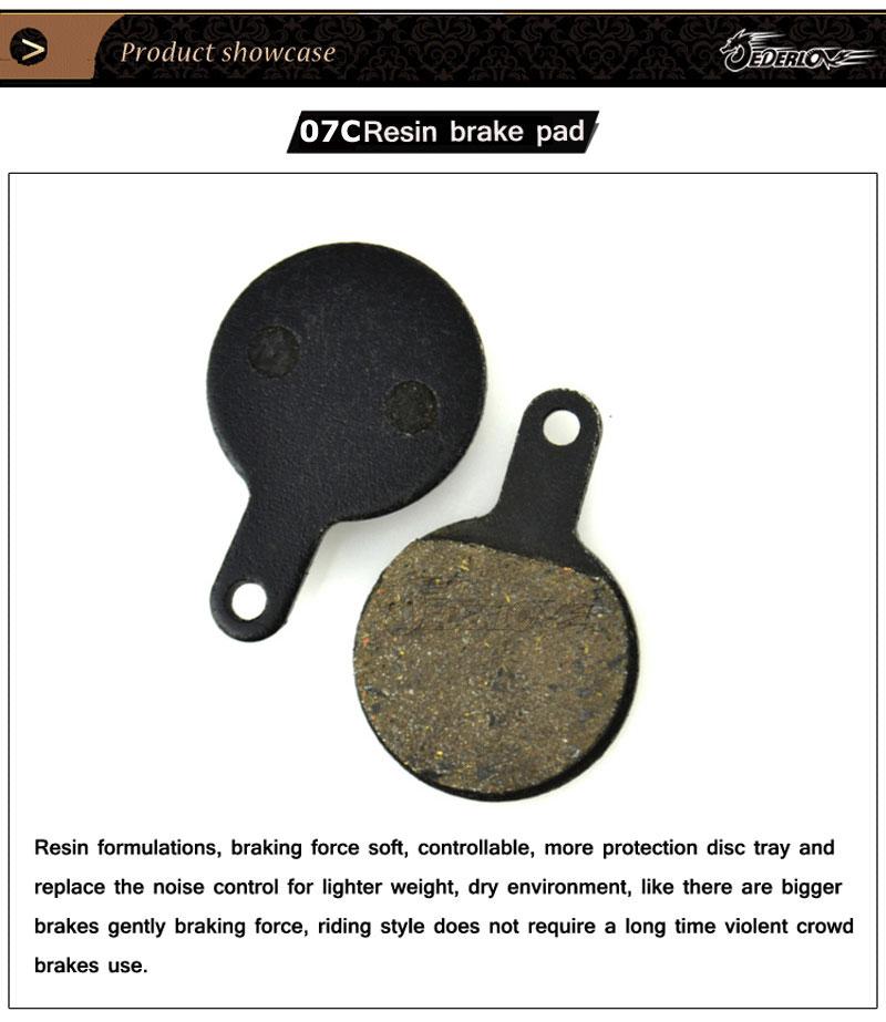 JEDERLO 07C DISC BRAKE PADS FOR TEKTRO LYRA YINXING//BOLI-BB8 MTB BICYCLE