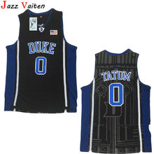 6f49c2b44b1 Jazz Vaiten 1 Kyrie Irving 0 Jayson Tatum College Jersey Duke Blue Devils  Men Basketball