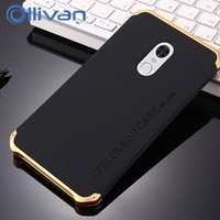 For Xiaomi Redmi Note 4X Case Plating 3in1 Luxury Hybrid Metal Frame PC Back Cover Case
