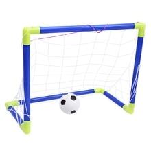 Children Sport Toys Kids Mini Portable Football Soccer Goal Net Set Indoor Outdoor Toy Developmental Game Great Gift For Kids