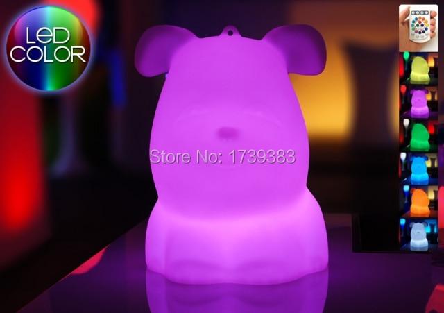 Waterproof Multicolor Big LED Bulldog Night Light Rechargeable luminous pug LED Dog valper Table children Kids Light Gift