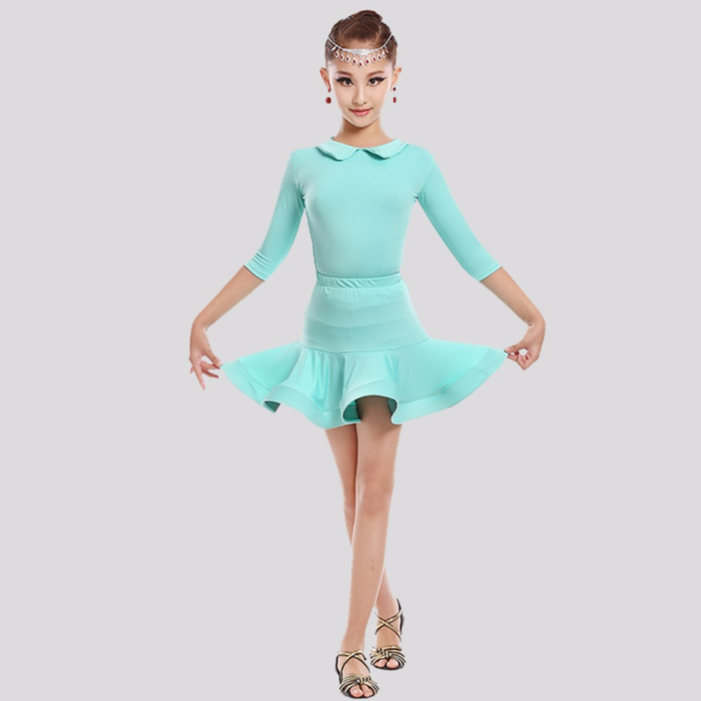 Good Sale 2017 Pretty Girl Latin Dance Dress Beauty Out Look Perfect Gifts For Child Presentation Girl Nice Girl Stage Costumes