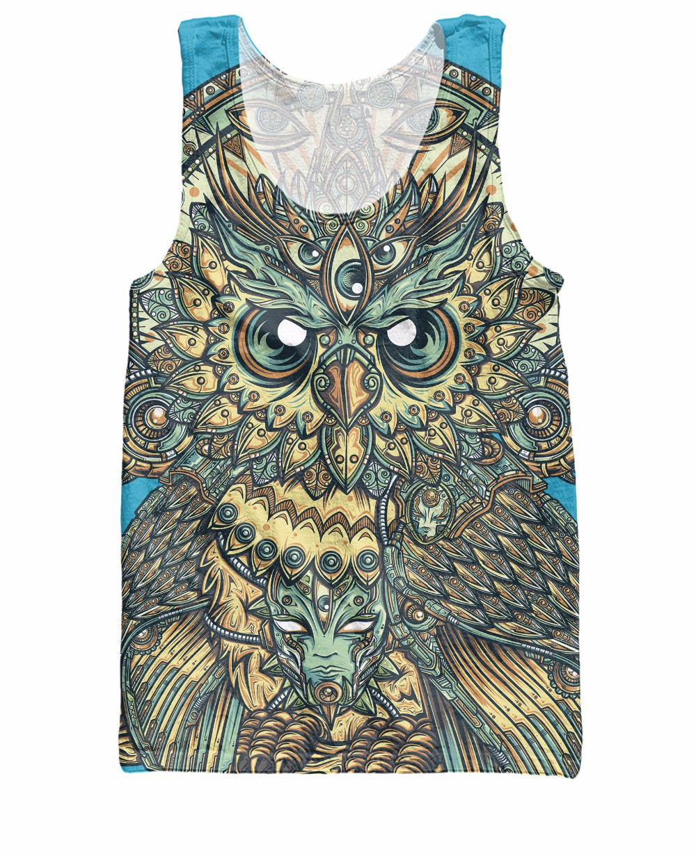 Vibrant colors and textures God Owl Of Dreams T-Shirt Sick Tee Summer Casual t shirt For Unisex Men Dorpshiping Plus S-6XL R2193