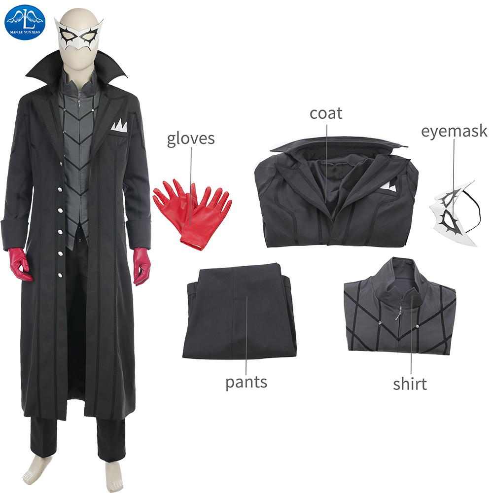 ManLuYunXiao Game Character Persona 5 Kaitou Cosplay Costume For Men Joker Anime Cosplay Men Full Set Uniform For Halloween