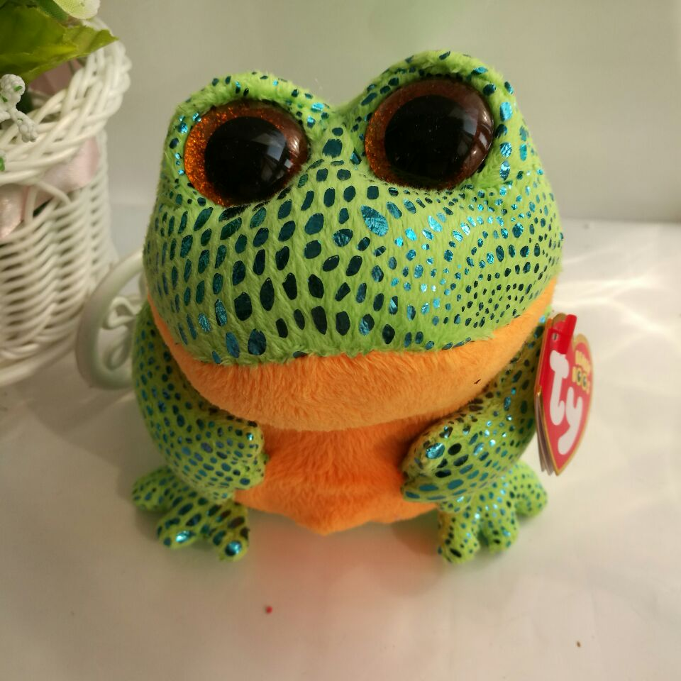 a7170776bf3 Speckles Frog TY BEANIE BOOS 1PC 15CM Speckles green frog Stuffed animals  KIDS TOYS VALENTINE GIFT