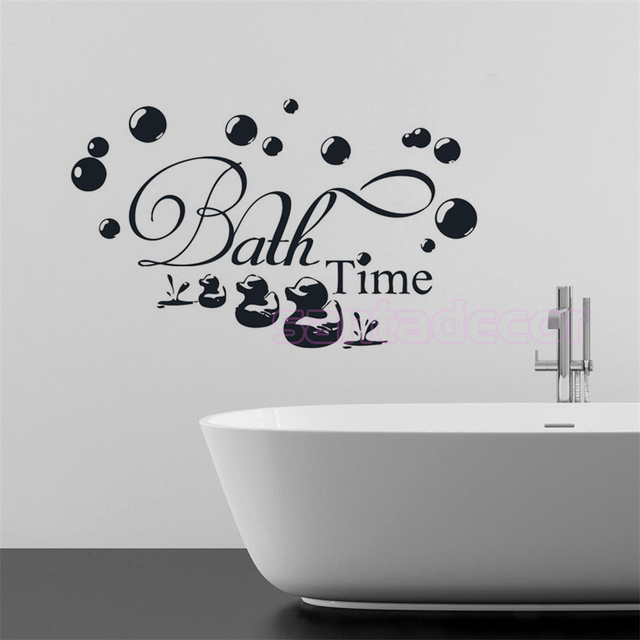 diy dr le de canard vinyle sticker mural pour salle de bains salle de douche bulle caneton mural. Black Bedroom Furniture Sets. Home Design Ideas