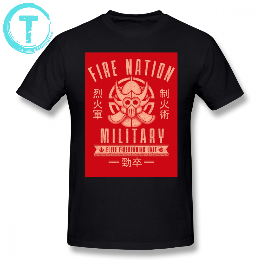 Avatar T Shirt Avatar Fire Nation T-Shirt 6xl Men Tee Shirt Fun Fashion Printed Short Sleeves 100 Percent Cotton Tshirt