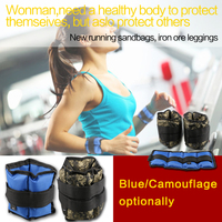 Wrist Ankle Weights 1kg Adjustable Strap Strength Gym Training Fitness Exercise