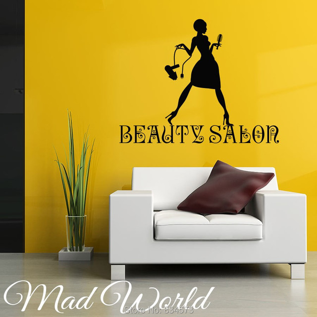 Mad World Beauty Salon Hairstyle Barbers Wall Art Stickers Decal ...