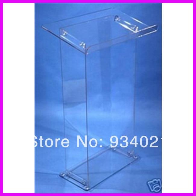 Detachable Clear Acrylic Lectern Acrylic Podium Stand Crystal Acrylic Pulpit Podium